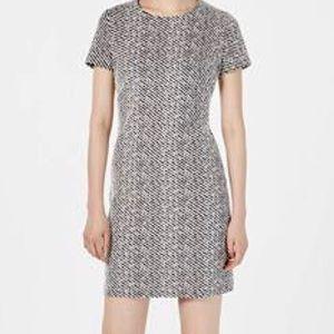 Calvin Klein Dress Zipper Back Black White 12